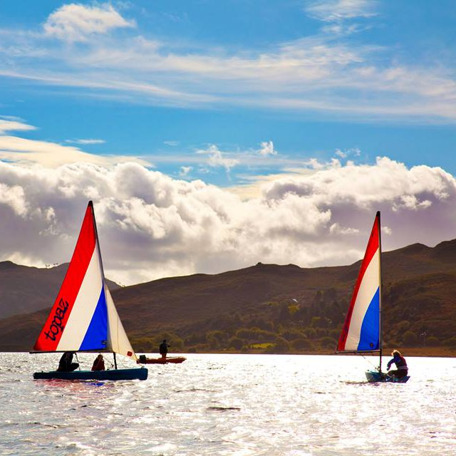 Sailing on Caragh Lake